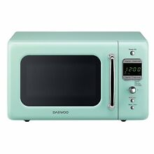 Daewoo Kor 7Lrem Retro Microwave Oven  0 7 Cu  Ft  700W  Mint Green
