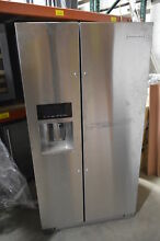 KitchenAid KRSF505ESS 36  Stainless Side by Side Refrigerator T2  23485