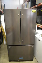 KitchenAid KRFF305EBS 36  Black Stainless French Door Refrigerator NOB  18134