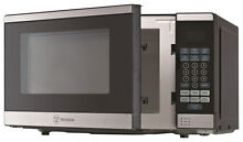 Westinghouse   0 7 Cu  Ft  Compact Microwave   Black with Stainless steel Trim