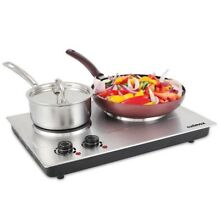 Electric Cooktop Set Small Cheap Cooking Stove Indoor Countertop Oven Burner NEW
