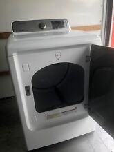 SAMSUNG White Electric Top  Front Washer 5 0 cu  ft  Dryer 7 4 cu  ft