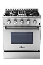 Thorkitchen HRD3088U 30  Freestanding Professional Stove Dual Fuel Range Oven