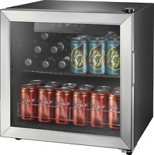 Insignia  48 Can Beverage Cooler   Stainless steel Silver