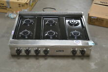 Viking VRT5366BSS 36  Stainless Natural Gas 6 Burner Rangetop NOB  24478 HL