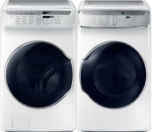 Samsung White Flex Washer   Gas Dryer WV55M9600AW and DVG55M9600W