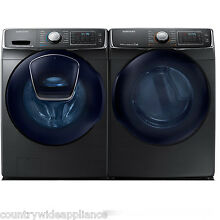 Samsung Black Stainless Front Load Washer Electric Dryer WF50K7500AV DV50K7500GV