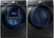 Samsung Black Stainless Front Load Washer Electric Dryer WF45K6500AV DV45K6500EV