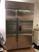 Sub Zero 690 S   48  Refrigerator Freezer Side by Side Stainless Steel