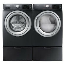 Samsung Black Stainless Washer Gas Dryer Pedestals WF45N5300AV DVG45N5300V