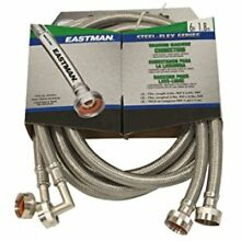 Eastman 41066 Ss Washing Machine Hose With 90 Degree Elbow  3 4 Inch X 3 4 Inch
