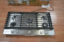 KitchenAid KCGS556ESS 36  Stainless 5 Burner Gas Cooktop NOB  25341 HL