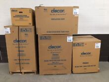 5 pc set  Dacor Dual Fuel Range 36  Wall Hood 42  Double Oven Dishwasher Microw