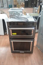 KitchenAid KOCE507EBS 27  Black Stainless Combo Electric Wall Oven NOB  25756 HL