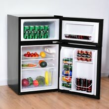 3 2 cu ft  Home Compact Stainless Steel Refrigerator Fruit Food Freezer 5 F 50 F