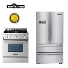 Deals Thor Kitchen 30  Gas Range 4 Burners Stainless Steel 36inch Refrigerator