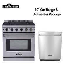 Thor Kitchen 30  Gas Range Built in dishwasher 24 Stainless Steel