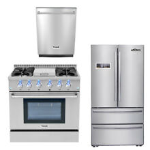 36  Gas range  24  dishwasher 36  THOR KITCHEN Depth Stainless Refrige Package