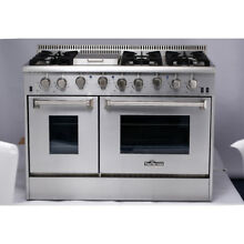 Thor Kitchen 6 burners 48 Range Gas 2 Oven Stainless Steel HRG4808U