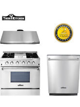 3 Unit Package 36 Gas Range range hood dishwasher  of Thor Kitchen