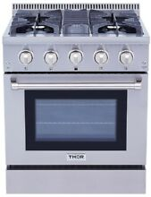 Thor Kitchen  30  4burner Professional Stainless Steel Dual fuel Range HRD3088U