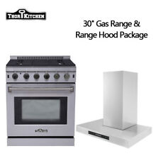 Thor Kitchen 30  Stainless Steel Gas Range Oven 30 Wall Mounted Hood