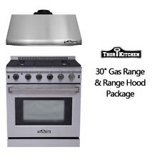 Thor Kitchen LRG3001U 30  Kitchen vent Stainless Steel 30 Gas Range Oven