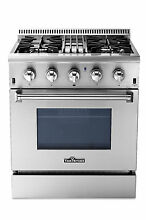 Thor Kitchen HRD3088U 30  Professional Stainless Steel Dual fuel Range