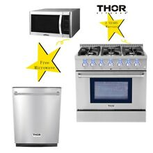 Thor Kitchen 36  Dual fuel Range  dishwasher 24 Professional Stainless Steel