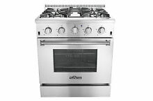 Thor Kitchen 30  Gas Range 4 Burners Stainless Steel ProfessionalHRG3026U