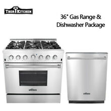 Thor Kitchen HRG3618 36 gas stove 6 burner  Dishwasher Stainless Steel