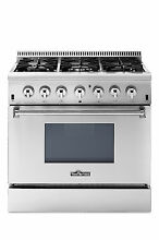 Thor Kitchen 36  Dual fuel Range Stove Professional Stainless Steel  HRD3606U