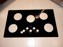 CERAMIC GLASS REPLACEMENT TOP FOR THERMADOR 36  GAS COOKTOP BLACK MINT
