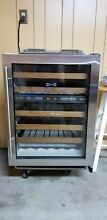 Sub Zero undercounter wine storage unit  46 bottle  dual zone  alarm  UV glass