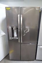 LG LSXS26386D 36  Black Stainless Side by Side Refrigerator NOB  26212 HL