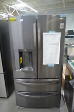 LG LMXS27626D 36  Black Stainless French 4 Door Refrigerator NOB  26324 HL