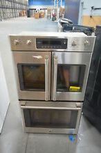 GE CT9570SLSS 30  Stainless Electric Double Convection Wall Oven NOB  26352 HL