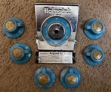 Vintage Hotpoint Electric Stove   Range Knobs Set of 6 Plus signage
