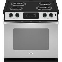 Whirlpool WDE150LVS 30  Stainless Self Clean Drop In  Electric Range NIB  11193