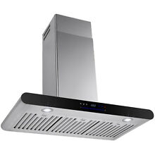 30  Wall Mount Stainless Steel Range Hood Stove Vent Exhaust w  Swiping Control