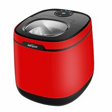 ICEFEAST Ice Maker Portable Small Appliance Compact Red Electric Machine