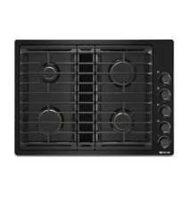 Jenn Air JGD3430GB 30  Black Downdraft Gas 4 Burner Cooktop NOB  27431 HL