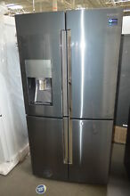 Samsung RF28K9380SG 36  Black Stainless French 4 Door Refrigerator NOB  27603 HL