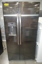 GE GSE25HBLTS 36  Black Stainless Side by Side Refrigerator NOB  27630 HL