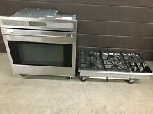 2 pc set  Wolf Cook Top CT36G S and Wolf Single Wall Oven SO30 2F S TH