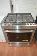 Jenn Air JGS1450FS 30  Stainless Slide In Euro Gas Range NOB  27801 HL