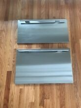 Sub Zero 2 Door Drawer Panel Set with Tubular Handles  for 700 BF or 700 BR