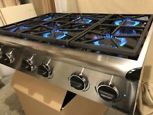 Dacor  36  Natural Gas Stainless Steel Professional Cooktop  Model ESG366S