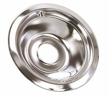 ELECTRIC RANGE DRIP PAN FITS GE  RANGES  CHROME  6 IN  6 PER PACK