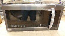 LG LMVM2033BM 2 0 cu ft  Over the Range Microwave Oven   Matte Black Stainless